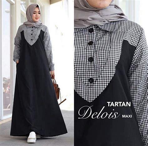 Baju Gamis Alby Set Maroon Hitam Termurah baju gamis remaja delois maxi busana muslim modern