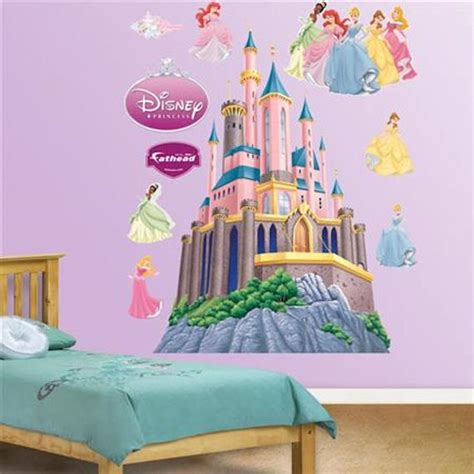 princess castle wall sticker fathead disney princesses castle wall sticker