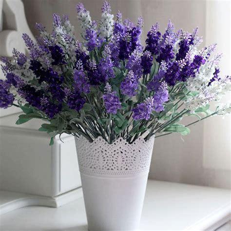 Artificial Lavender Flower Bouquet 10 heads lavender flowers silk artificial bouquet wedding
