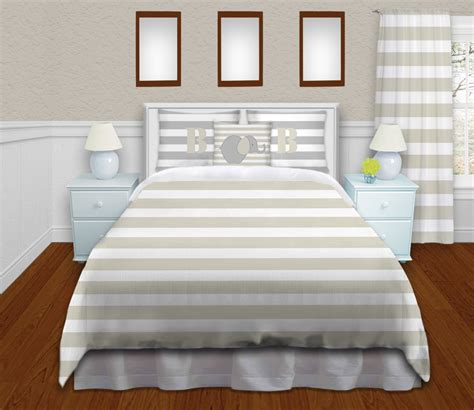 elephant bedding set elephant bedding set striped kids comforter in tan with gray pillowcases 165