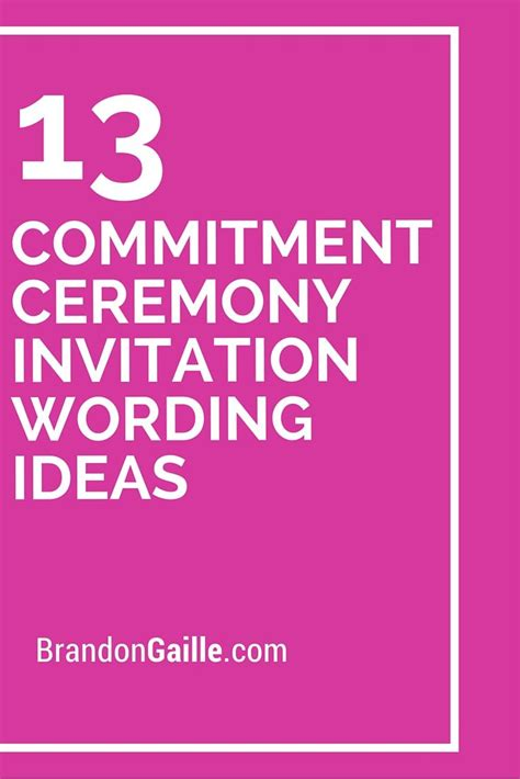 Wedding Invitation Unmarried Not Living Together by 17 Best Images About Commitment Ceremony On