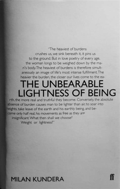 The unbearable lightness of being essay