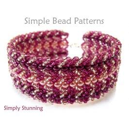 Simply Stunning Is Wired by Flat Spiral Stitch Bracelet Diy Beading Pattern Jewelry