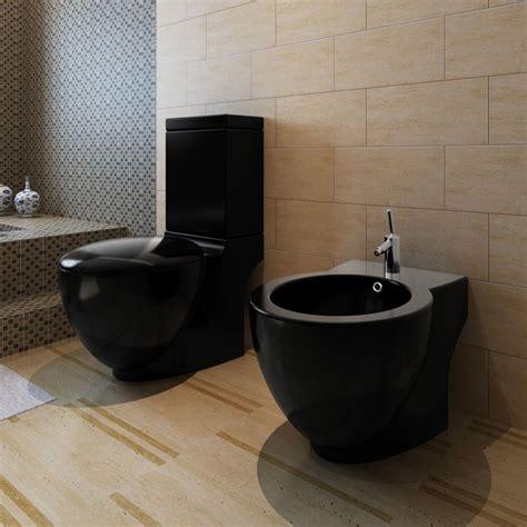 bidet wc stand toilet bidet set black ceramic vidaxl co uk