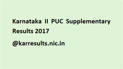 supplementary 2 puc result karnataka 2nd puc supplementary results 2017 released