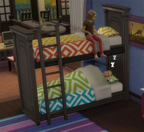 mod 4 sims bed functional bunk bed by ugly breath at mod the sims 187 sims