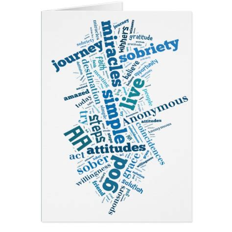Free Printable Sobriety Anniversary Cards | sobriety birthday anniversary card zazzle