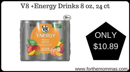 8 oz energy drinks v8 energy drinks 8 oz 24 ct only 10 89 shipped