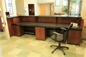 Custom Desk Ideas Handmade Custom Made Zodiac And Walnut Reception Desk By R J Hoppe Inc Custommade