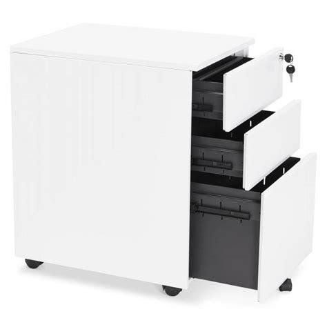 caisson bureau design caisson de bureau design 3 tiroirs mathias en m 233 tal blanc
