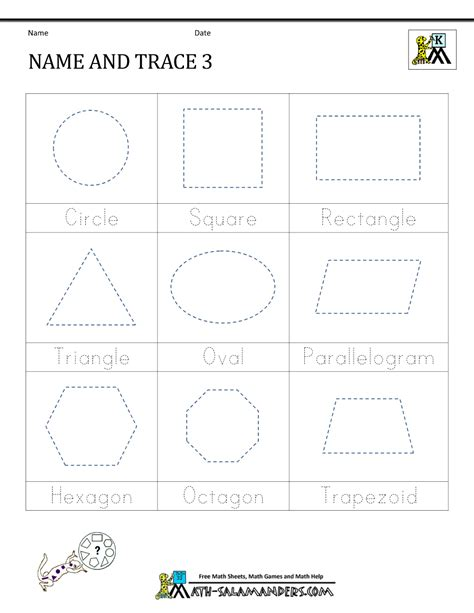 Tracing Name Worksheets For Preschoolers by Shape Tracing Worksheets Kindergarten