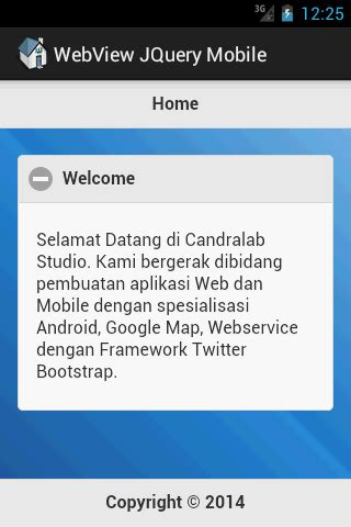 tutorial android jquery mobile candralab