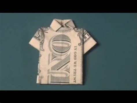 tutorial origami shirt how to make a dollar bill origami heart paper heart doovi