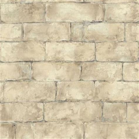 the wallpaper company 56 sq ft beige brick wallpaper