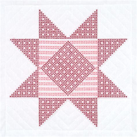 quilt blocks of hawaii complete set cross stitch quilt xx gingham star 18 quot quilt blocks jack dempsey needle art
