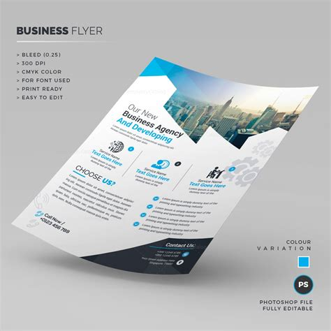 stylish corporate flyer template 000248 template catalog