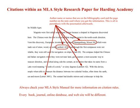 mla in text citations guide to writing
