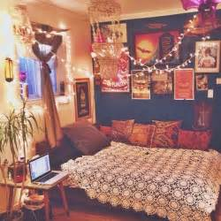 home decor hippie vintage bedroom boho bed retro