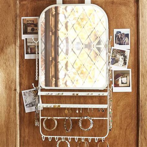 The Door Mirror Jewelry Organizer by The Door Jewelry Organizer Mirror Pbteen