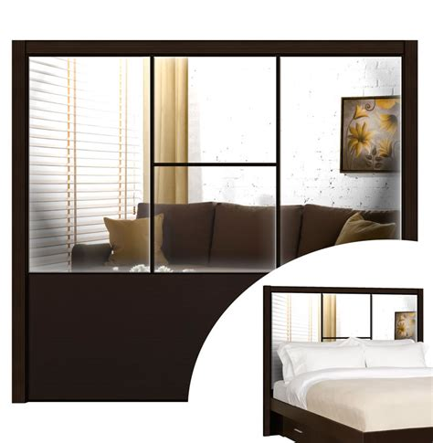 mirror as headboard queen headboard madison headboard contempo space