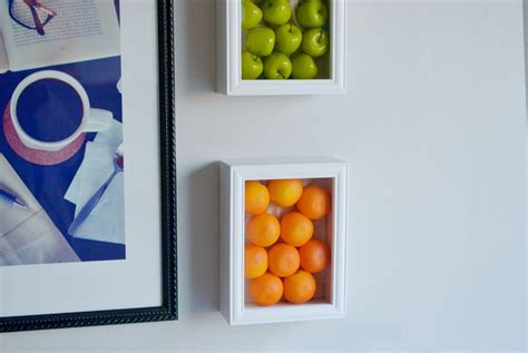 colorful kitchen wall art with fake fruits walls kitchens and fun and fresh kitchen wall decor ideas you need to see