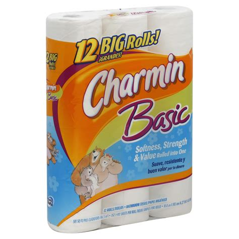 charmin bathroom charmin basic bathroom tissue unscented big rolls 1 ply