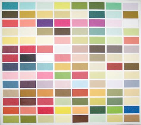 color chart wall hanging modern artwork by textile arts