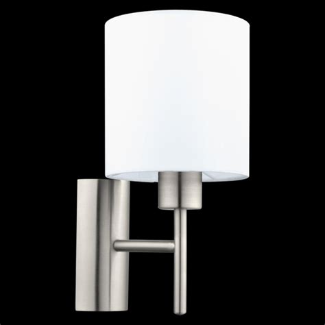 eglo pasteri wall light this is a 1 light wall light complete with a matt white shade