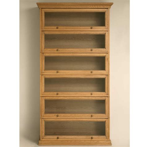 furniture oak barrister bookcase comes with glass doors 6