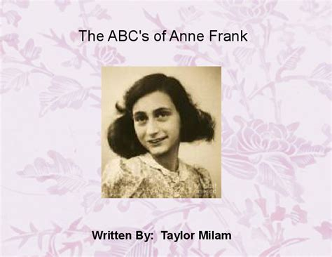 anne frank biography template the abc s of anne frank book 366939 bookemon