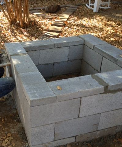 Cinder Block Firepit Cinder Block Pit Cost Effective Alternative