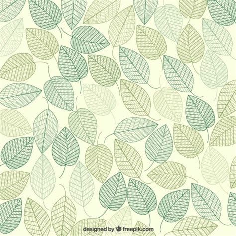 leaf pattern vintage green leaves background vector premium download