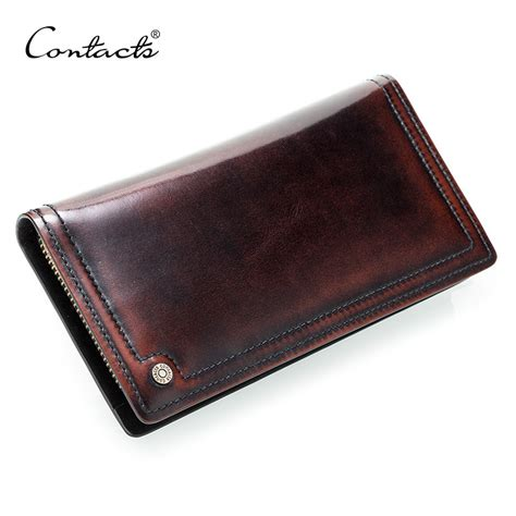 Wallet Handmade - contact s brand design genuine leather wallet
