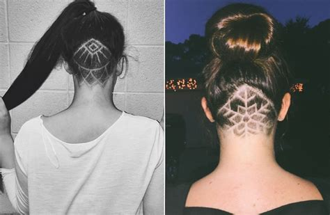 hair tattoo equipment heard about women s hair tattoo designs try one of them