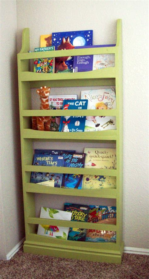 white front facing bookcase diy projects