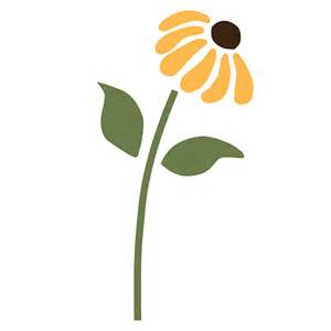 Wildlife Wall Mural daisy flower wall stencil for painting kids or by