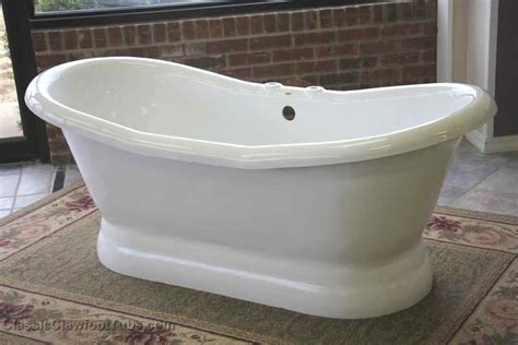 double bathtub 68 quot acrylic double ended slipper pedestal tub classic