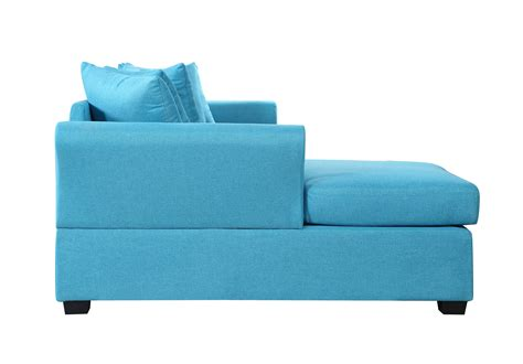 Large Sectional Sofa With Chaise Lounge Modern Large Linen Sectional Sofa With Wide Chaise Lounge Blue
