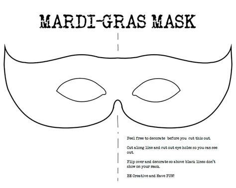 mardi gras mask template mardi gras pinterest