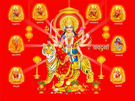 maa nav durga photo  hd wallpaper  desktop  wallpaperscom