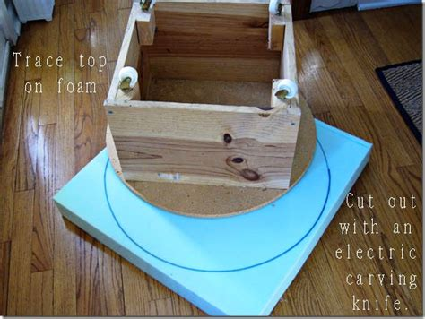 how to make a pouf ottoman pdf how to build a round footstool plans free