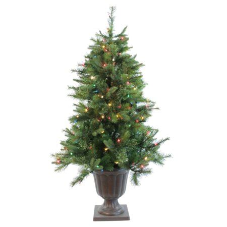 walmart christmas trees potted 5 pre lit potted artifical tree led multi color lights walmart