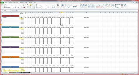 layout collection exle nice training plan template excel image collection