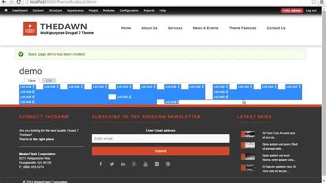 drupal themes overview drupal 7 theme overview of bootstrap and demo content