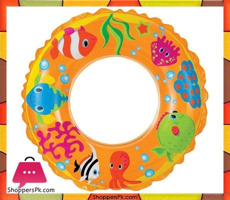 Swimming Ring Intex Hello 61 Cm intex transparent floating ring 24 inch 59242