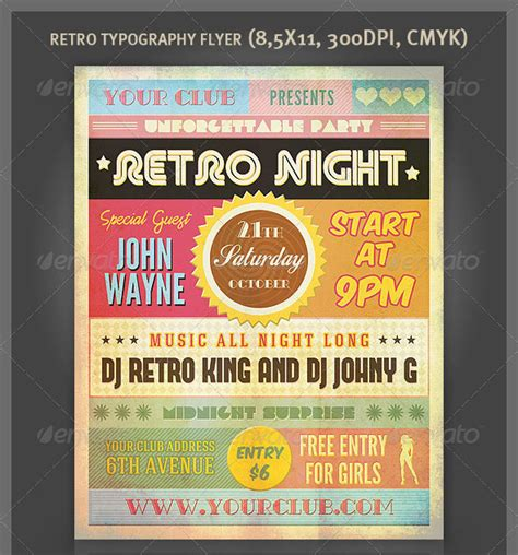 awesome typography flyer psd templates web