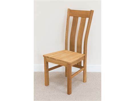 churchill contemporary solid oak dining chair from top