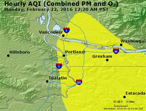 air quality map of oregon airnow portland or air quality