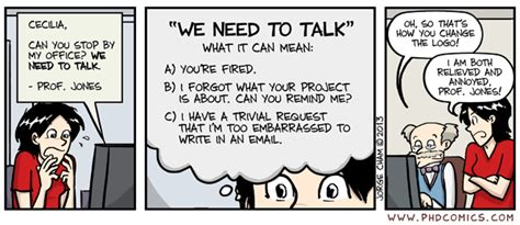 phd comics advisor email this is totally me phd comics we need to talk science
