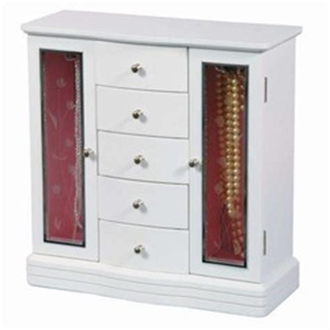 girls armoire white wood jewelry box armoire girls jewelry box
